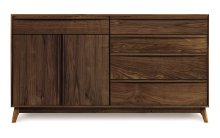 Catalina 4 Drawers on right, 1 Drawer over 2 Doors on left Buffet