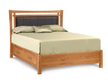 Monterey Bed with Storage and Upholstered Panel