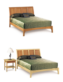 Sarah Sleigh Beds with Low Footboard
