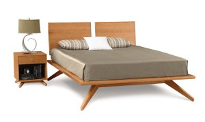 Astrid Bed with 2 Headboard Panels and 1 drawer