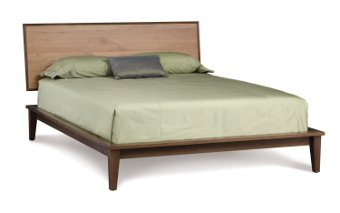 SoHo Panel Bed in Walnut and Cherry