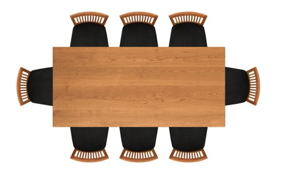 Sarah 36in x 78in Four Leg Fixed Top Table